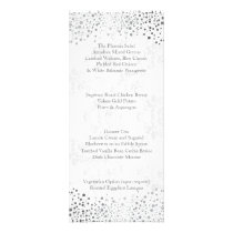 Wedding Day Trendy Silver Dots Rack Card