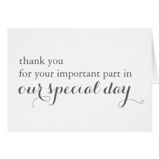 Wedding Day Vendor Thank You Card Zazzle