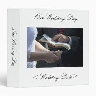 Wedding Day Vows Memory Binder