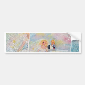 Wedding Day Whimsical Art Bumper Stickers