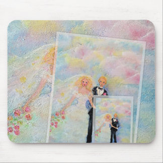 Wedding Day Whimsical Art Mouse Pad