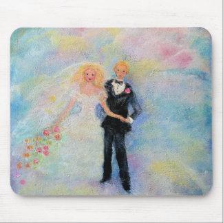 Wedding Day Whimsical Designer Art Mouse Pad