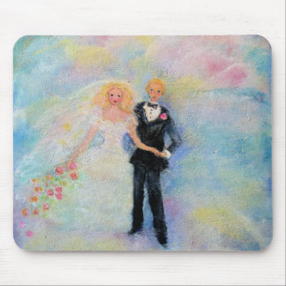 Wedding Day Whimsical Designer Art Mouse Pad
