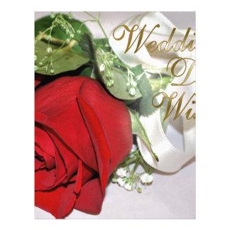 WEDDING DAY WISHES CUSTOMIZED LETTERHEAD