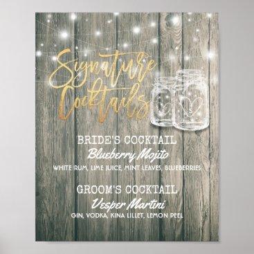 Art Themed Wedding Decor Sign Signature Cocktail Drink Menu