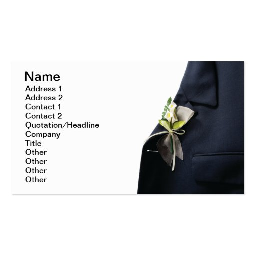 Wedding decoration double sided standard business cards for Decoration business