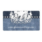 Wedding Denim Chandelier Label Jeans Jewelry