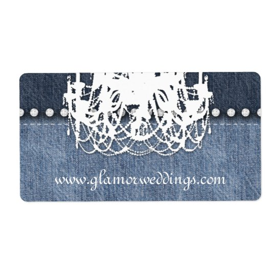 Wedding Denim Chandelier Label Jeans Jewelry