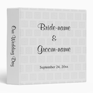 Wedding Design in Pale Gray with Squares. Binder