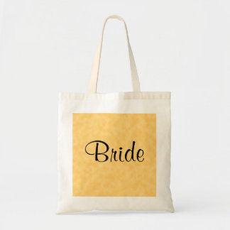 Wedding Design in Yellow and Black. Tote Bag