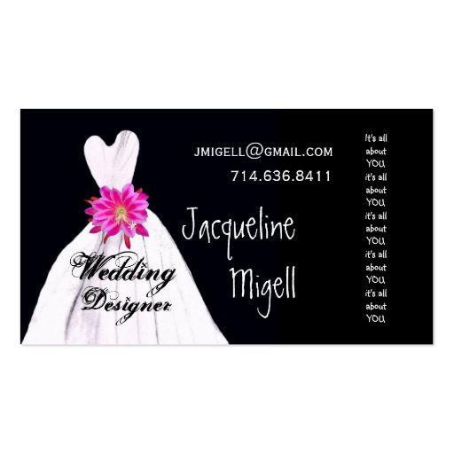 WEDDING DESIGNER Business Card Template