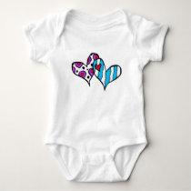 Wedding designs baby bodysuit