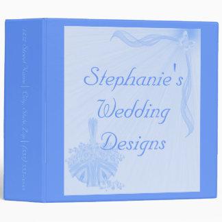 """_____Wedding Designs"" (Rich Sky Blue) 3 Ring Binder"