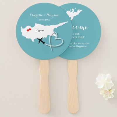 Wedding Destination Cyprus Hand Fan