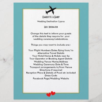 Wedding Destinations Abroad Guest Information