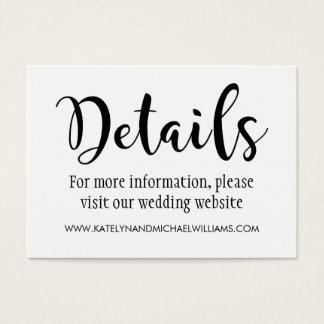 Wedding Details Card   Black Script