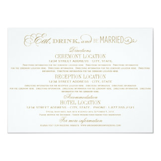 Wedding Details Card | Eat Drink and Be Married