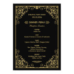 Wedding Dinner Menu Cards | Art Deco Style Invitation