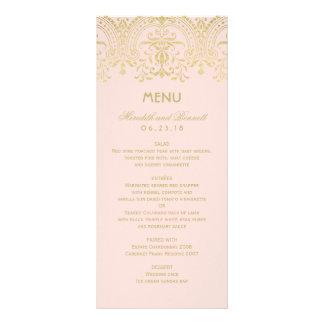 Wedding Dinner Menu Cards | Gold Vintage Glam Rack Card Design