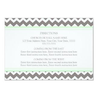 Wedding Direction Cards Mint Grey Chevron