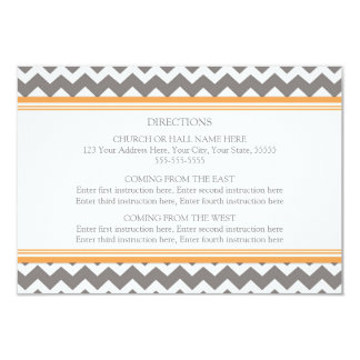 Wedding Direction Cards Orange Grey Chevron