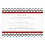 Wedding Direction Cards Red Grey Chevron
