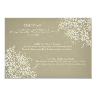Wedding Direction Cards Vintage Floral