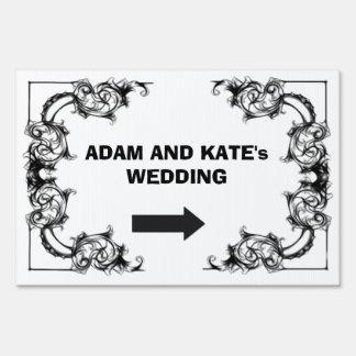 Wedding direction yard sign