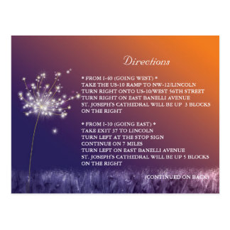 Wedding Directions + Accommodations Enclosure Card Postcard