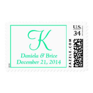 Wedding DIY Alphabet Medium Spring Green Stamp