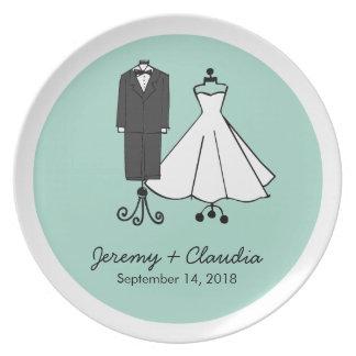 Wedding Doodles Melamine Plate