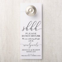 Wedding Door Hanger - Do Not Disturb - Caligraphy