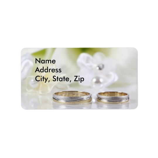 Wedding Double rings address Label