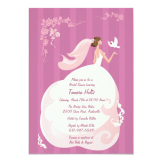 Wedding Dove Bridal Shower Invitation