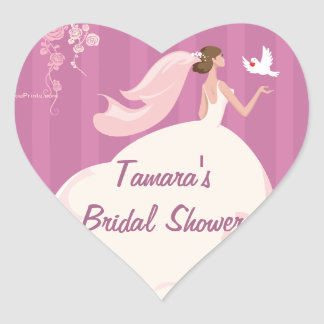 Wedding Dove Bridal Shower Sticker