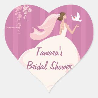 Wedding Dove Bridal Shower Sticker