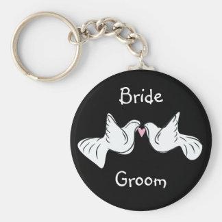 Wedding Dove Favors Keychain