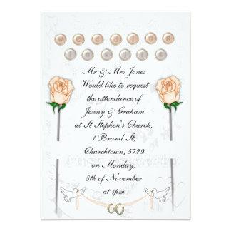 Wedding Doves 5x7 Paper Invitation Card