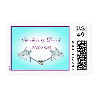 Wedding doves stamp