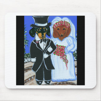 Wedding Doxies Mouse Pad