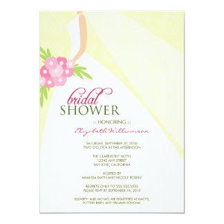 Wedding Dress_2 Bridal Shower Invitation (yellow)