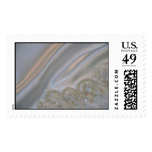 Wedding Dress 2 Postage Stamp