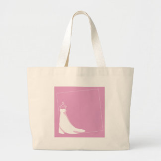 Wedding Dress: Beautify in pink Large Tote Bag