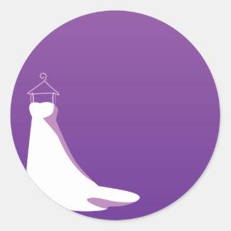 Wedding Dress: Beautify in purple Classic Round Sticker