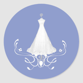 Dress Bridal Shower Stickers