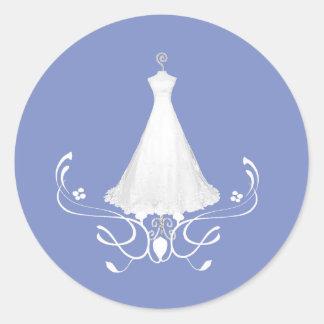 Wedding Dress Blue envelope sticker