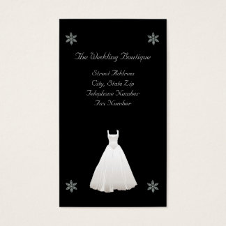 Wedding Dress Boutique Business Card