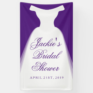 Wedding Dress Bridal Shower Banner