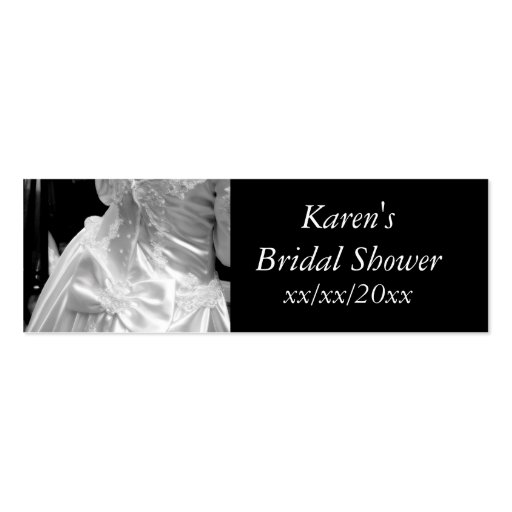 Wedding Dress Bridal Shower Double-Sided Mini Business Cards (Pack Of 20)
