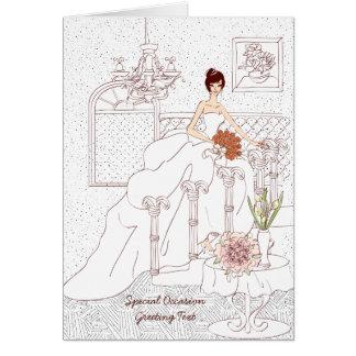 Wedding Dress Bridal Shower Greeting Card